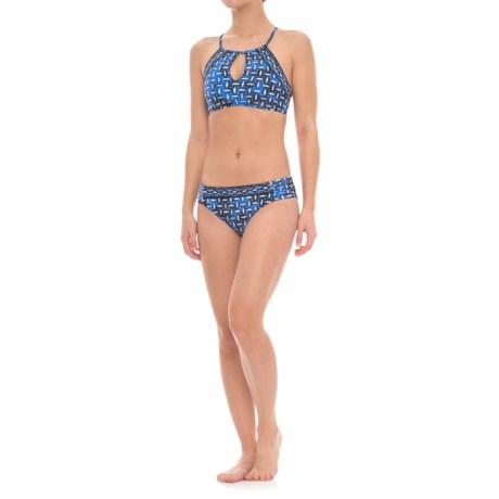 La Blanca High-Neck Keyhole Bikini Set - Hipster Bottoms (For Women)