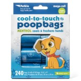Petkin Cool-to-Touch Menthol Pet Waste Bags - 240-Count