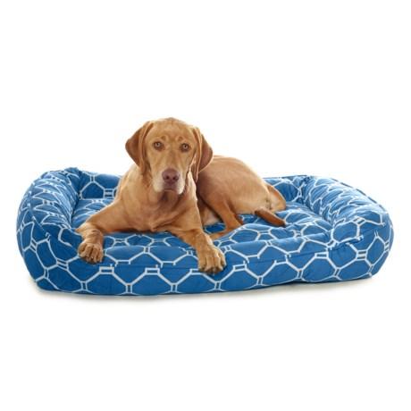 "Arlee Luxor Print Lounger Dog Bed - 40x32"""