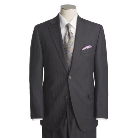 Jack Victor Faint Stripe Suit - Worsted Wool (For Men)