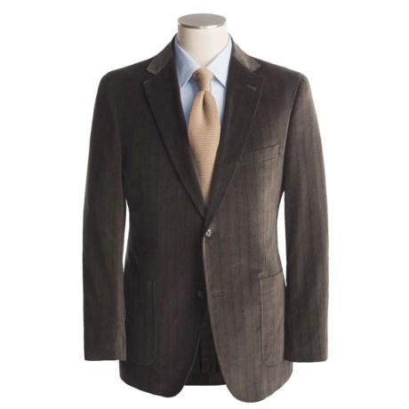 Jack Victor Soft Construction Chevron Sport Coat - Cotton (For Men)