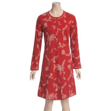 Calida Sensation Big Shirt - Cotton, Long Sleeve (For Women)