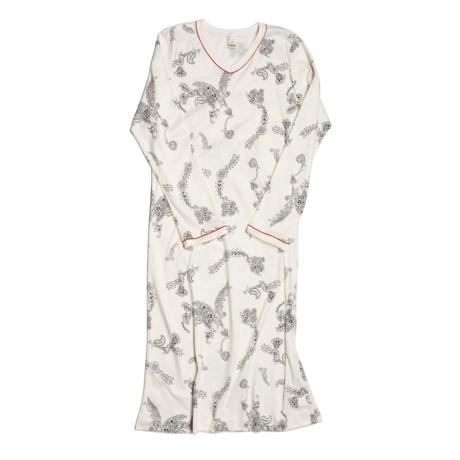 Calida Sensation Nightshirt - Cotton, Long Sleeve (For Women)