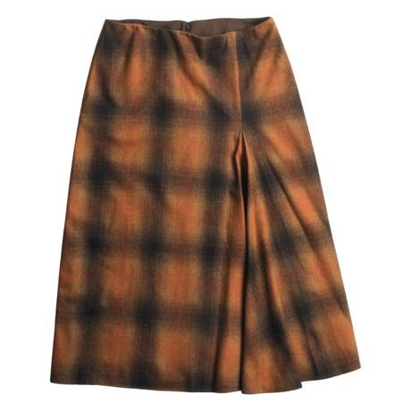 David Brooks Ombre Blanket Skirt - Plaid (For Women)