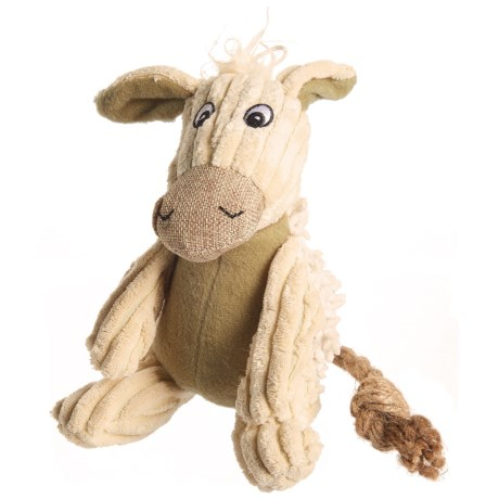 Pet Lou Natural Donkey Dog Toy - Squeaker