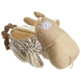 Pet Lou Natural Cow Dog Toy - Squeaker