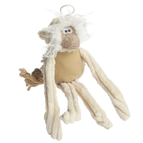 Pet Lou Natural Monkey Dog Toy - 6""