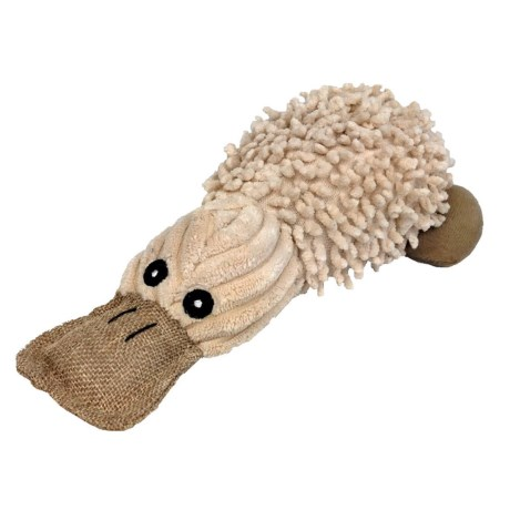 Pet Lou Natural Platypus Dog Toy - 10""