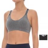 XOXO Seamless Cross-Back Sports Bra - Medium Impact, 2-Pack (For Women)