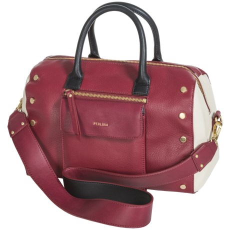 Perlina Paula Leather Satchel (For Women)
