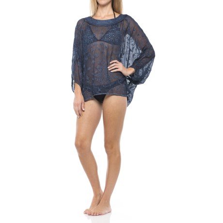 Natural Impressions Bird Flocking Cover-Up - Long Dolman Sleeve (For Women)