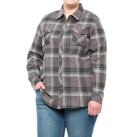 North River Yarn-Dyed Plaid Flannel Shirt - Long Sleeve (For Women and Plus Size Women)