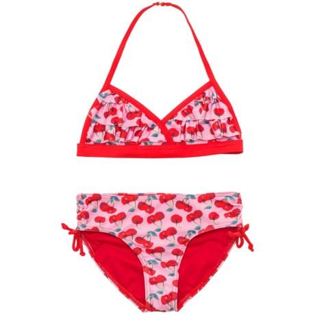 Jantzen Cherries Ruffle Bikini Set - UPF 50+ (For Big Girls)