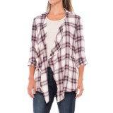 North River Twill Plaid Cardigan Shirt - Open Front, Long Sleeve (For Women)