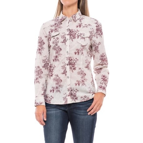North River Voile Western Shirt - Snap Front, Long Sleeve (For Women)