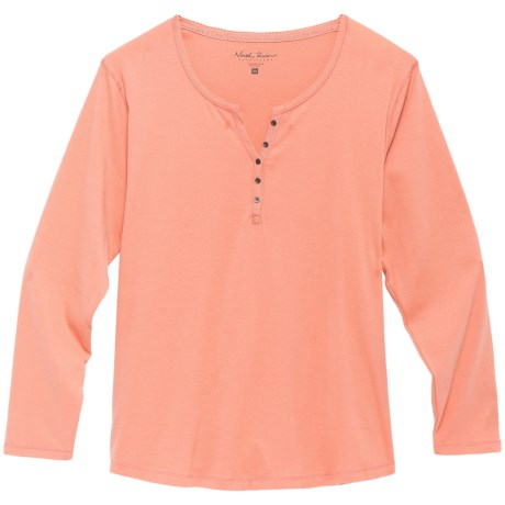 North River Solid Rib Henley Shirt - Long Sleeve (For Plus Size Women)