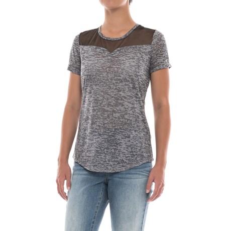 North River Burnout Mesh Shirt - Short Sleeve (For Women)