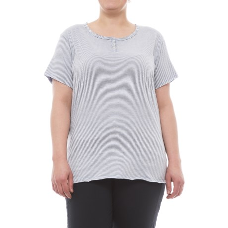 North River Henley Slub Shirt - Short Sleeve (For Women)