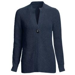 Cullen Long Cardigan Sweater - Boucle Knit, Italian Yarn (For Women)