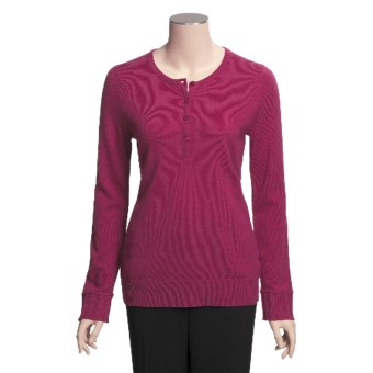 Cullen Cashmere Henley Sweater (For Women)