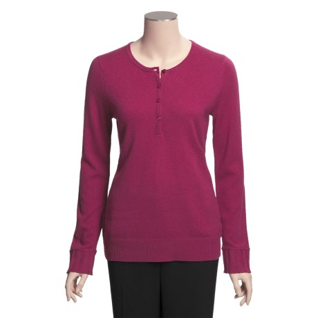 Cullen Cashmere Henley Sweater (For Women)