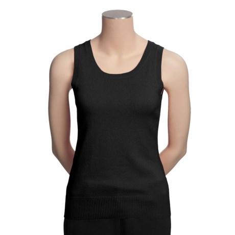 Cullen Cashmere Sweater - Sleeveless Shell (For Women)