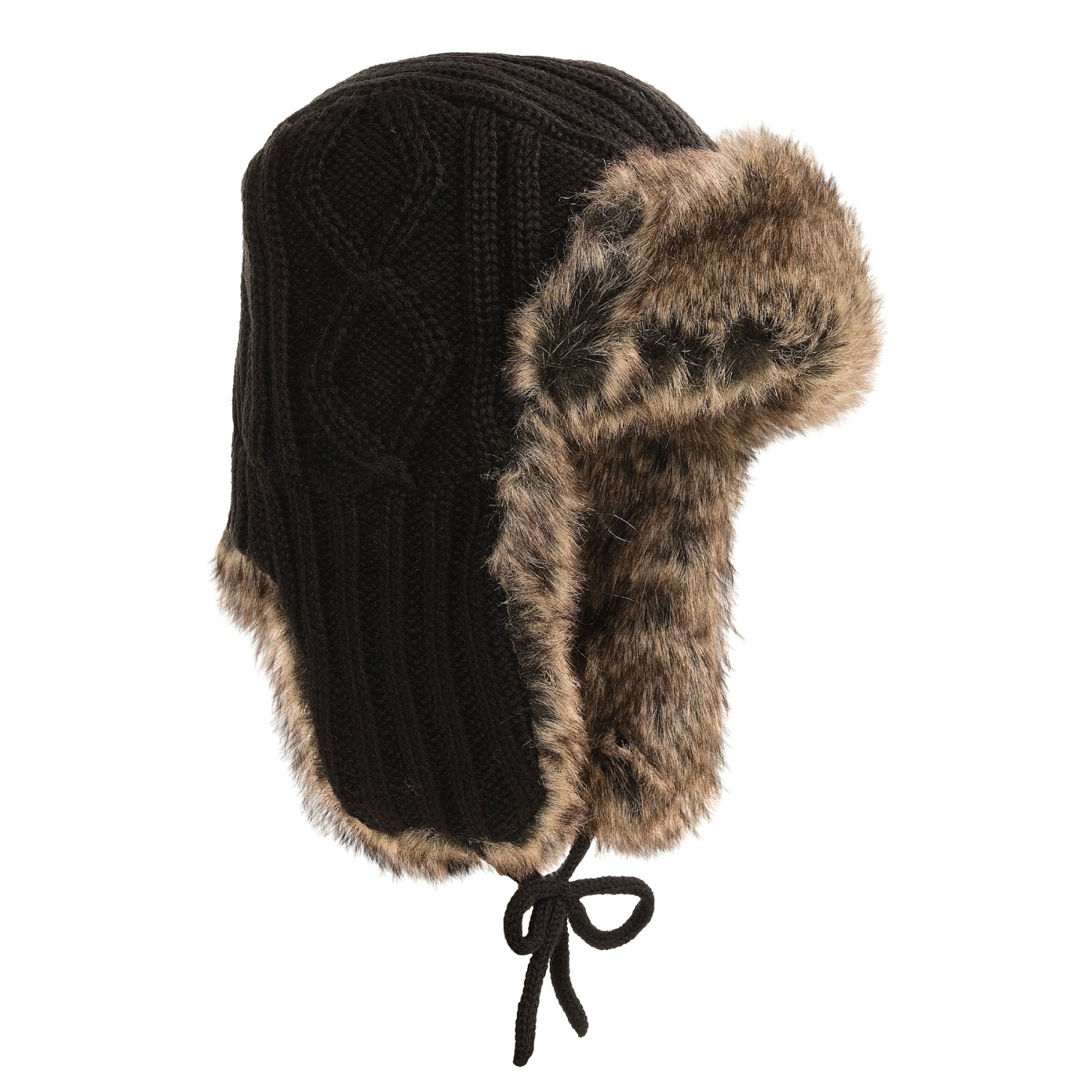 Auclair Cable-Knit Ear Flap Hat (For Men and Women) 2903P - Save 53%