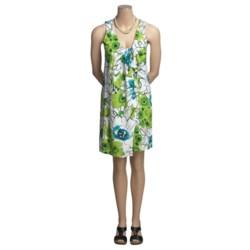 Vera Cotton-Modal Jersey Print Dress - Twist Tie, Sleeveless (For Women)