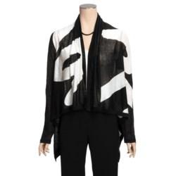 Vera Linen-Silk Cardigan Sweater (For Women)