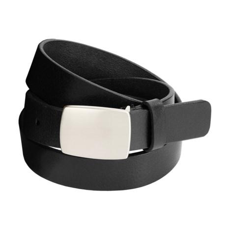 Remo Tulliani Leather Belt - Nickel Plaque Buckle (For Men)