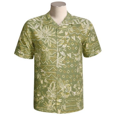 Quiksilver Bonriki Shirt - Silk-Cotton, Short Sleeve (For Men)