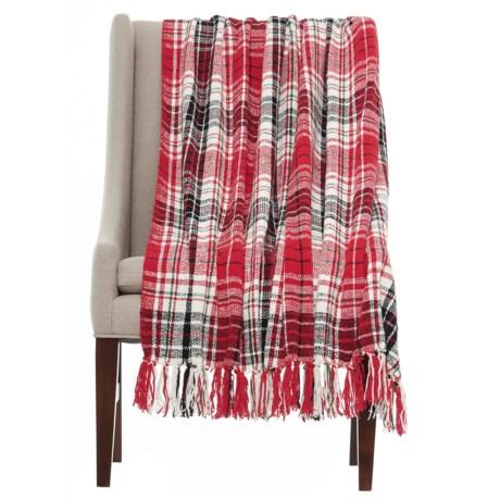 "Isaac Mizrahi Chenille Plaid Throw Blanket - 50x60"""