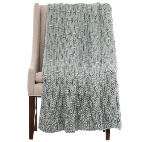 Tahari Linked Diamond-Knit Throw Blanket - 50x60""