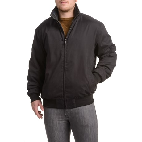 Weatherproof Microfiber-Lined Bomber Jacket - Insulated (For Men)