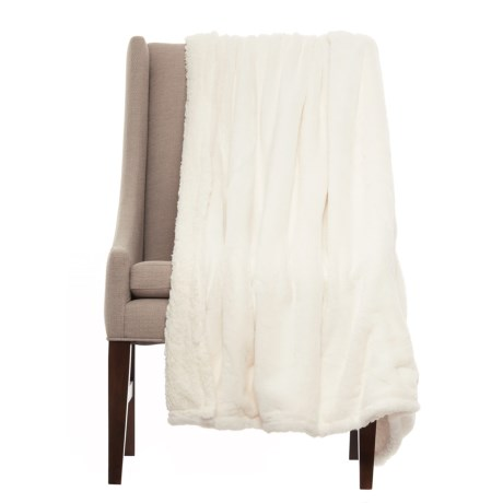 City Chic Fluffy Faux Fur Reversible Throw Blanket - 50x60""