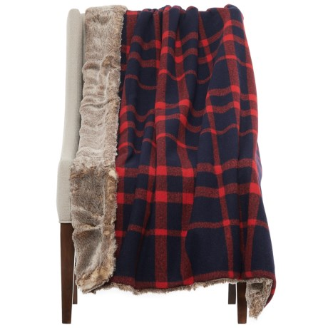 Artisan de Luxe Faux-Fur Reversible Throw Blanket - 50x60""