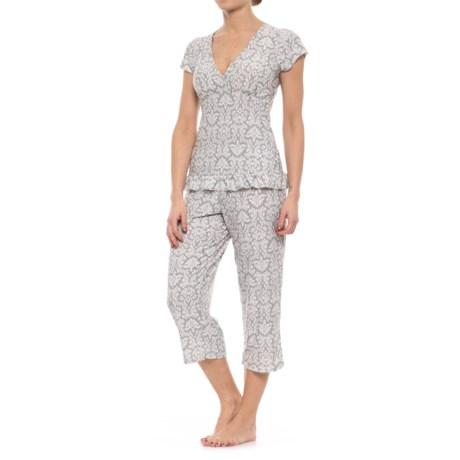 Marilyn Monroe Ruffled-Hem Capris Pajamas - Short Sleeve (For Women)