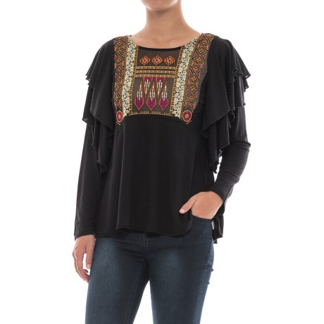 Free People La Cienga Ruffled Shirt - Long Sleeve (For Women)
