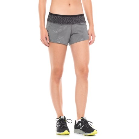 SmartWool PhD Patterned Run Shorts - Built-In Brief (For Women)