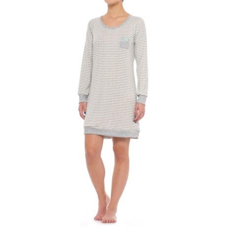Marilyn Monroe brushed Hacci Sleep Shirt - Long Sleeve (For Women)