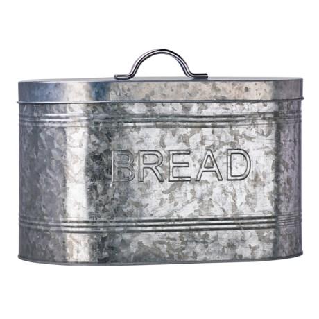 Amici Home Rustic Kitchen Galvanized Steel Bread Box