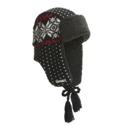 Igloos Aviator Hat - Jacquard Knit (For Men and Women)