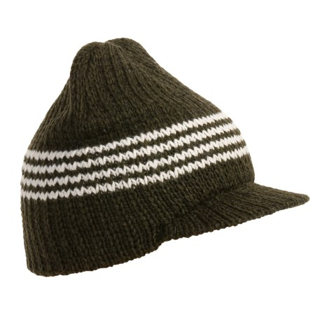 Jacob Ash EcoRaggs® Striped Visor Cap - Wool Blend (For Men and Women)