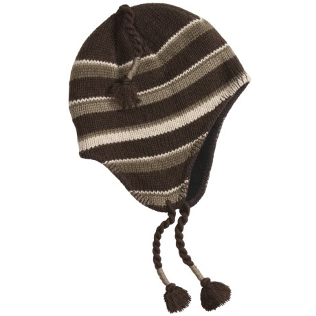 Igloos Striped Flap Hat - Recycled Materials, Fleece Lining (For Men and Women)