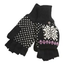 Igloos Pop Top Mittens - Fleece Lining (For Women)