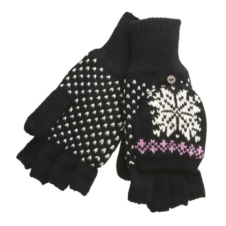 Igloos Pop Top Mittens - Fleece Lining (For Women)
