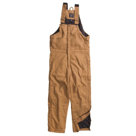 Smith's American Quilt-Lined Canvas Bib Overalls - Full Zip (For Men)
