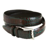 Soft Collection by Bill Lavin Croc Print Belt - Handfinished Buckle (For Men)