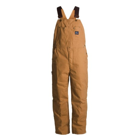 Cold Storage Canvas Bib Overalls - Insulated (For Men)