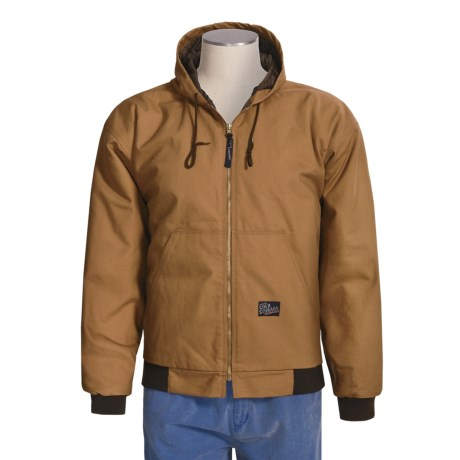 Cold Storage Canvas Jacket - Insulated, Hooded (For Men)